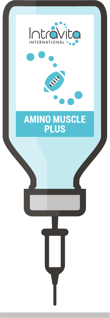 Amino Muscle Plus IV Nutrient Formula - Ready to administer 250ml bottle.